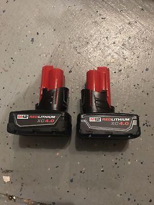 (2-Pack) NEW Milwaukee Genuine 12v M12 XC 4.0Ah Extended Battery 48-11-2440