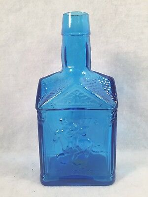 "Vintage WHEATON Blue 1775 Paul Revere 8"" Bottle Eagle"