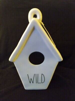 Rae Dunn WILD Birdhouse w/Feather On Back (No Ribbon on Top) See Description