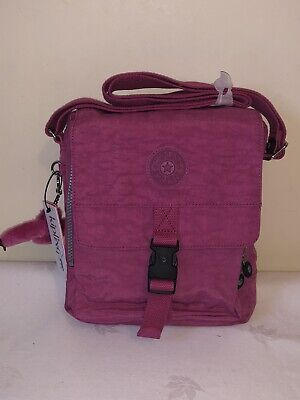 BNWT Kipling Lancelot Crossbody Shoulder/Travel Bag Carmine Monkey: CIAH