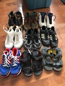 Boys' hiking boots, sneakers and sandals