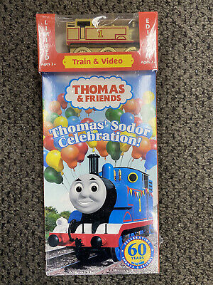 Thomas & Friends VHS Thomas's Sodor Celebration with limited edition gold train