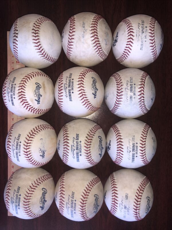 MLB Baseballs. One Dozen Game Used/BP Rawlings Official Major League Baseballs