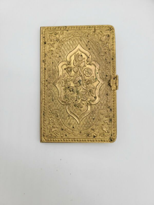 "1870 ""THE UNIQUE"" BRASS NEEDLE CASE Avery-style England"