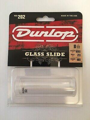 Dunlop Glass Slide  Medium 8 Ring Size Acoustic, Lap Steel or Electric Guitar