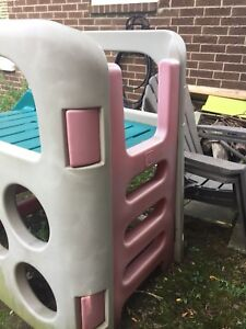 Kids play structure and slide