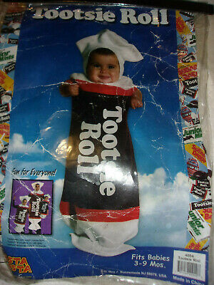 INFANT BOYS GIRLS HALLOWEEN COSTUME 3 6 9 MONTHS TOOTSIE ROLL CANDY COSTUME - Infant Girl Halloween Costume