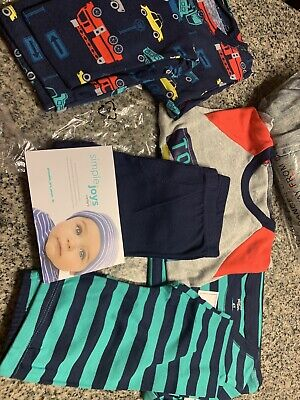 Lot Of 3 NWT Boys 4T Outfits simple joys by carters
