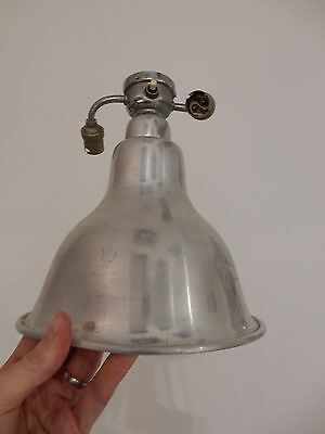 INDUSTRIAL CHIC STYLE OLD ALUMINIUM LAMP TO RESTORE  MAN CAVE KITCHEN ETC