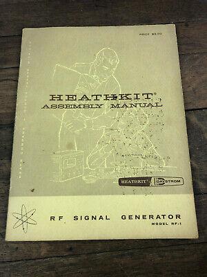 Heathkit Assembly Manual Model Rf-1 Rf Signal Generator