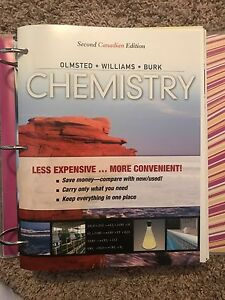 Olmsted Chemistry textbook package