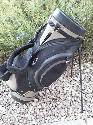 OAKLEY Golf Carry Standing Bag Brown / Black 5-Way (Oakley Stand Bag)