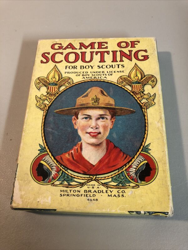 Vintage Game Of Scouting For Boy Scouts Milton Bradley Complete 4648