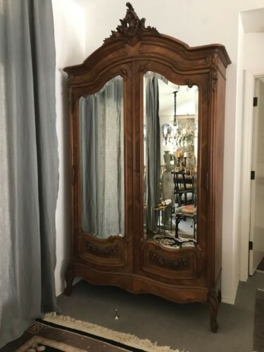 Antique French Armoire Wardrobe Cabinet