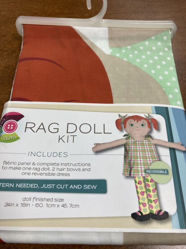 rag doll kit*Fabric Panel*by Daisy Kingdom*Cut And Sew*NEW