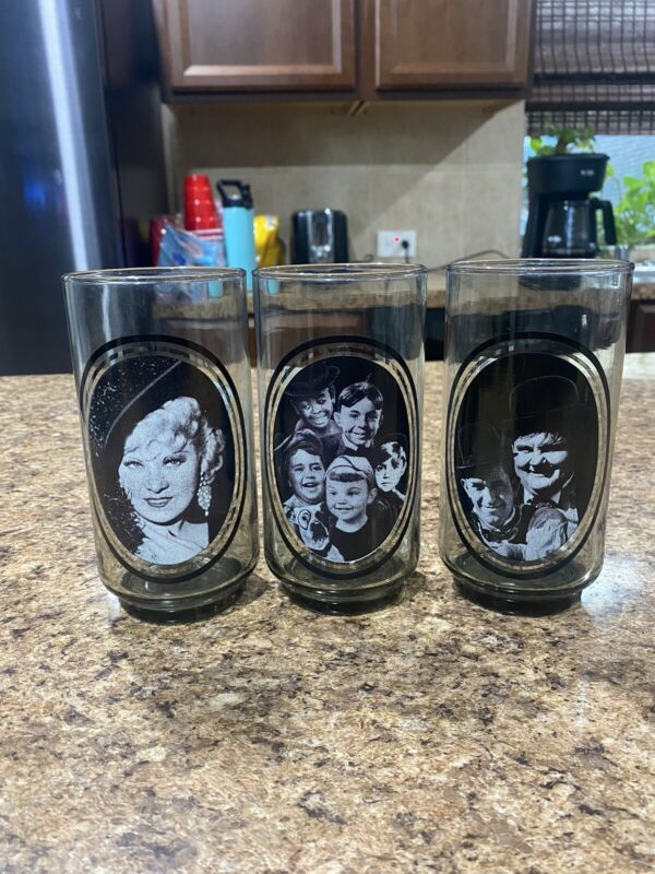 Vintage 1979 Arbys Collectors Cups Little Rascals Take 3/4/5 Bundle Rare!