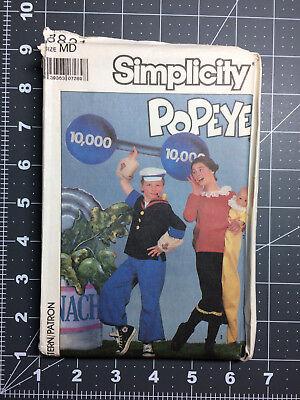 Simplicity #8831 ~ Costume Pattern Popeye Olive Oyl ~ Size Adult Medium ~ FF UC](Plus Size Popeye Costume)