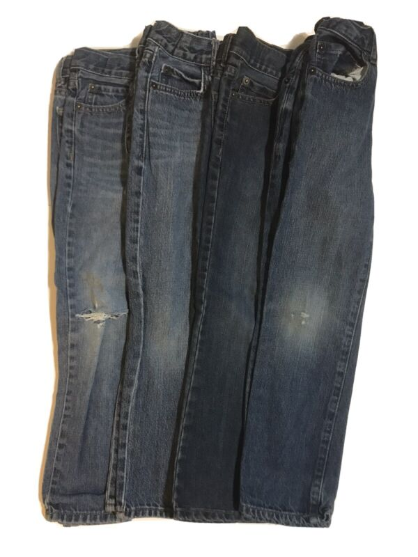 Place Blue Jeans Boys Kids Skinny Straight Bootcut Size 6 LOT x4 Pairs