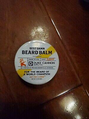 Duke Cannon Supply Co Best Damn Beard Balm Redwood 1.6 Oz Made In