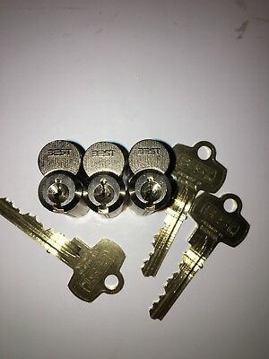 Lot Of 3 Best Kaba Peaks Sfic Cores High Security Keyed Alike With Control Key