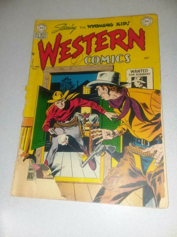 Western Comics #16 dc national 1950 Golden age wyoming kid prrecode 52 page gian