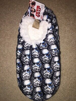 Death STAR WARS movie Darth Vader STORMTROOPER Men's NEW Slipper SOCKS SIZE L/XL