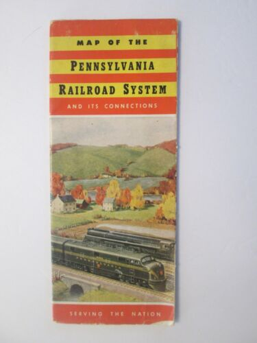 PRR Pennsylvania Railroad System and Connections Map 1948