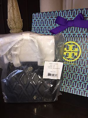 NWT TORY BURCH ROBINSON PATCHWORK MINI SQUARE TOTE BLACK 31139578 $525 SOLD OUT!