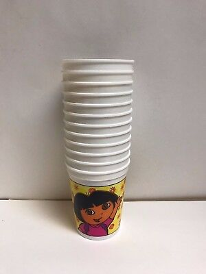 ER 17 OZ PLASTIC STADIUM CUPS - PARTY SUPPLIES FAVORS (Dora The Explorer Party Supplies)