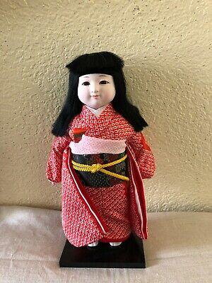 Vintage Japanese Ceramic Geisha Doll Hollow Figurine Asian Woman Makeup