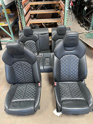2013 - 2015 FRONT REAR SEAT SEATS in SET AUDI S7 A7 OEM WITH AIRBAG AND MODULES