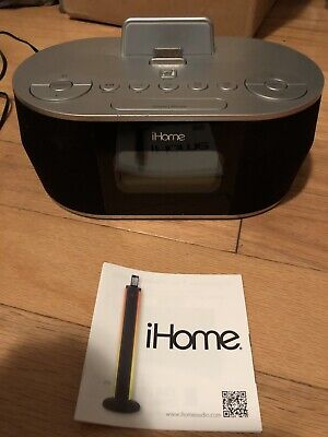 Brand New!!! OB! iHome Idn38 Dual Alarm FM Clock Radio for Ipad/iphone
