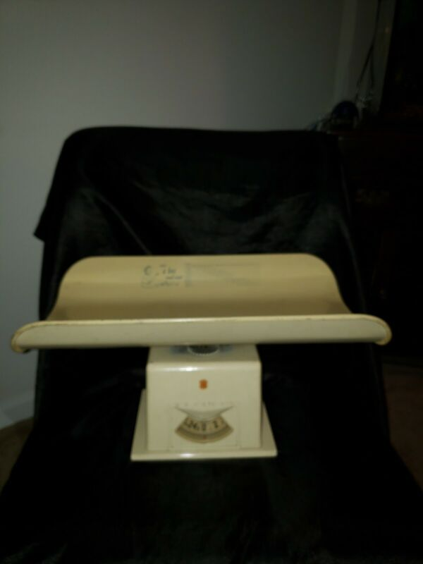 Vintage Detecto Baby Scale. What A Boy / Girl Should Weigh ! Model
