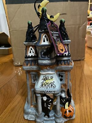 Blue Sky Clayworks Halloween Hotel of Horrors Goldminc Candle House Open Box