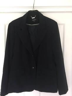 """Women's Tailored Black Coat - size 16 - """"Rockmans"""""""