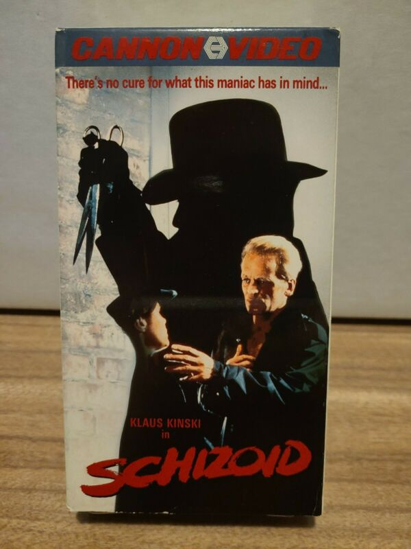 Schizoid (VHS, 1988) Horror Slasher Cannon Video TESTED