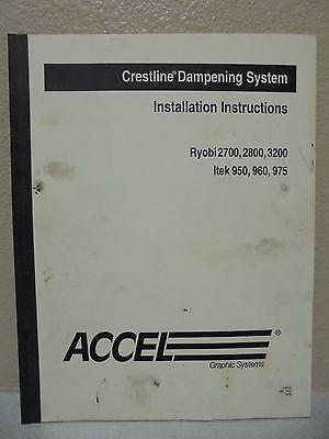 Crestline Dampening System Installation Ryobi 2700 2800 3200 Itek 950 960 975