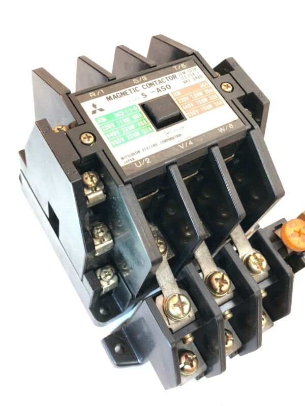 MITSUBISHI S-A50 MAGNETIC CONTACTOR 200V COIL WITH TH-60  ***FREE SHIPPING***