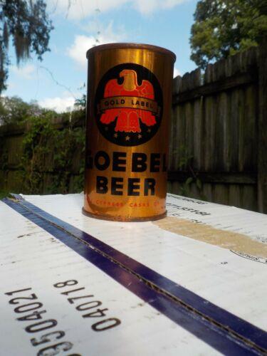 GOEBEL GOLD LABEL OI IRTP  VAR #2 FLAT TOP OLD BEER CAN