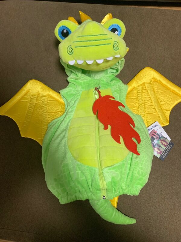 FAO Schwarz Green Dragon 3-6M Kids Costume Pacifier Flames. Halloween