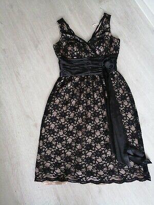 Ladies Boutique Black Lace Dress Size 8