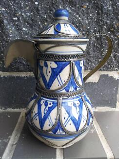 Coffee Pot, Jug and Glasses-Drinking Set