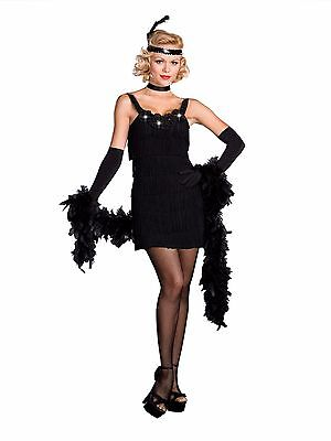 All That Jazz Black Flapper Costume for Women size XL New by Dreamgirl 6457](Jazz Flapper Costume)