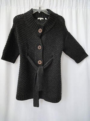 Vince Wool & cashmere size S  button belted cardigan sweater charcoal gray