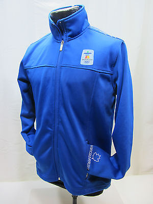 Hudson Bay Co. CANADA Olympic 2010 Vancouver Soft Shell Blue Jacket Men's L