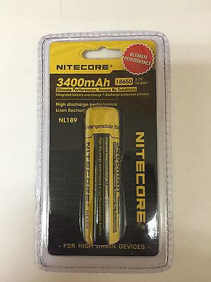 NEW Genuine NITECORE 18650 NL189 3400 mah Rechargeable Battery Li-ion Protected