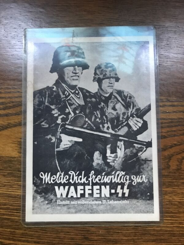 Vintage Military Germany WWII Nazi Post Card German Waffen SS 1942