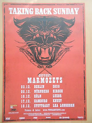 Taking Back Sunday Poster (TAKING BACK SUNDAY 2014 TOUR - orig. Concert Poster - Plakat  A1  NEU  Mot.2)