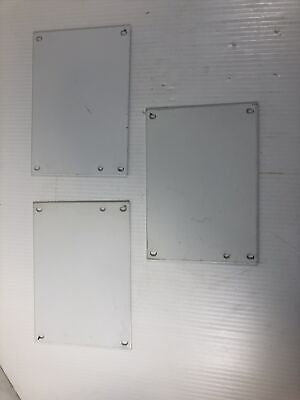 Lot Of 3 - Wiegmann Metal Back Plane P0806 Electrical Enclosure Inner Panel Used