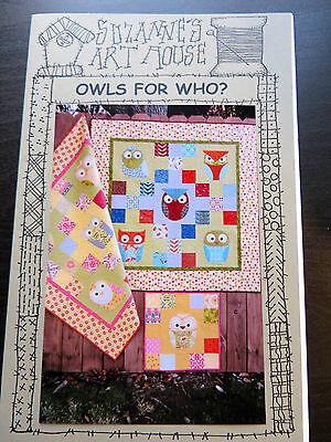 PATCHWORK & APPLIQUE CHILDREN'S OWL QUILT PATTERN BY SUZANNE'S ART HOUSE USA